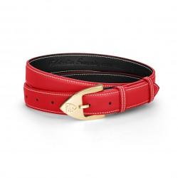 Women Belt - Calfskin - Red...