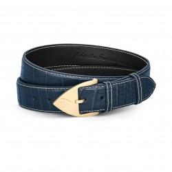 Men Belt - Alligator - Blue...