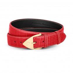 Men Belt - Alligator - Red...