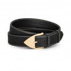 Men Belt - Calfskin - Black...